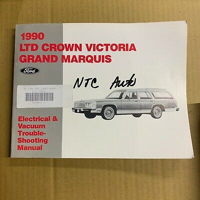 90 ford crown victoria grand marquis electrical wiring vacuum diagram manual  oem