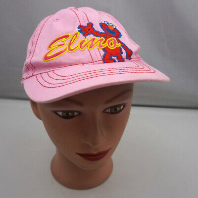 Sesame Street Elmo Hat Pink Kids Adjustable Baseball Cap Pre-Owned ST215