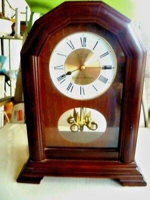 Seiko Mantel Clock - Rotating Pendulum - Dual Chimes - Model Qxj103Bc Quartz