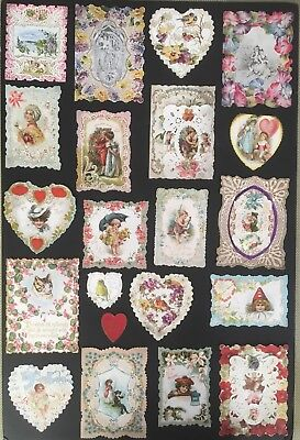 VTG Antique Victorian Valentine Cards ~ Die Cut~ Embossed~ 3-D~Early 1900's