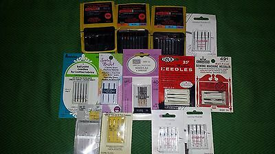 Huge Lot of Sewing Machine Needles Assorted (58)