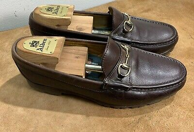 eadb01181fd Alden Cape Cod Collection Gold Horse Bit Brown Slip On Loafers Men s 8.5
