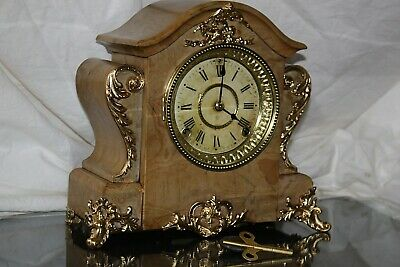 ANTIQUE SETH THOMAS SHELF MANTLE CLOCK-Totally!!-Restored- c/1899