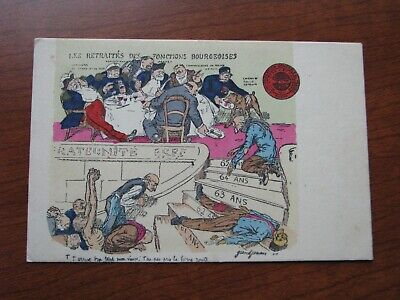 France Postcard French Political Satire Early 1900's Unused