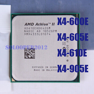 AMD Athlon II X4 600E 605E 610E AMD Phenom II X4 905E Socket AM3 CPU Processor