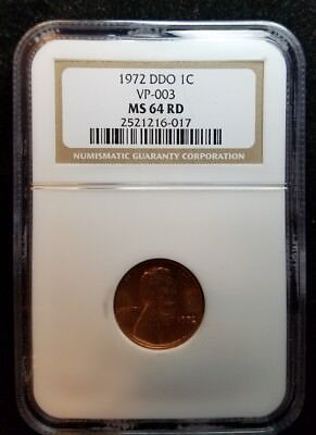 1972 Doubled Die Obverse # 3 (VP 003) Lincoln Cent - NGC MS-64 RD