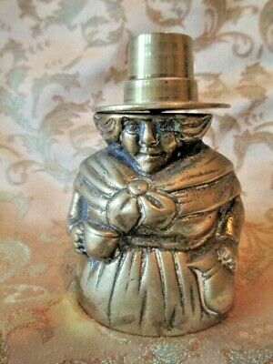 Antique Victorian Brass Welsh Woman Inkwell cover