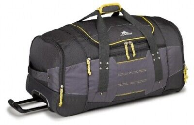 NEW High Sierra Ultimate Access  66Cm Wheeled Duffel Charcoal/Yellow - in
