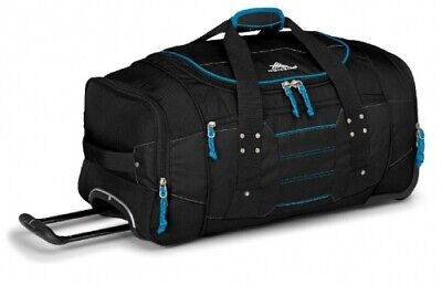 NEW High Sierra Ultimate Access  76Cm Wheeled Duffel Black/Blue - 76cm - Travel