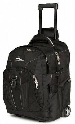 NEW High Sierra Xbt  Wheeled Daypack - in BLACK - 53cm - Travel Laptop Backpacks