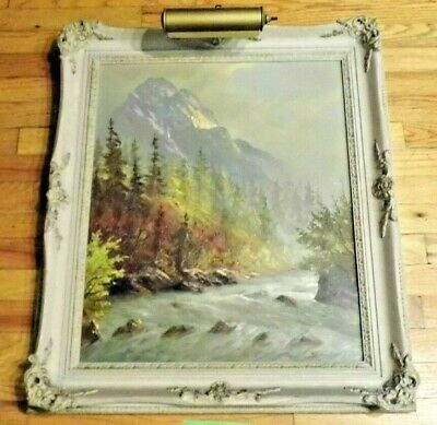 Antique GERMAN Original MULLER Oil Painting Signed 1800s LARGE  Beautiful Frame