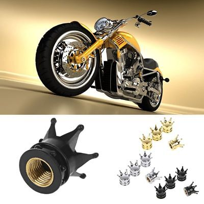 4 Pcs Car Bicycle Motorcycle Chrome Crown Tyre Tire Wheel Stem Air Valve Cap Hot