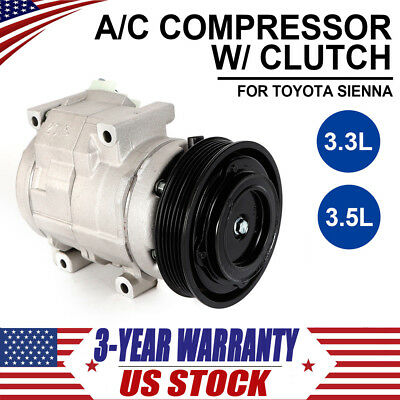 CO 10854C A//C Compressor Fit for 2004 2005 2006 2007 Toyota Sienna 3.3L//3.5L New