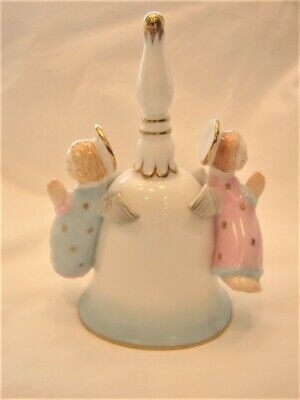 Herend Hungary Hand Painted Angels Christmas Bell 8040/C