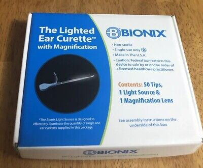 Bionix Lighted Ear Curette W/ Magnification Lens, Handle & 50 Micro Loop #2220