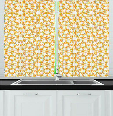 Sacred Curtains Islamic Ethnic Effects Window Drapes 2 Panel Set 55x39 Inches