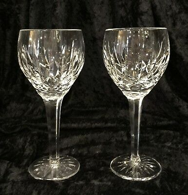 """Waterford Ballymore Wine Water Glass Clear Cut Crystal Vintage Mint 8"""" Mint"""
