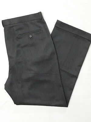 41763ae4 PERRY ELLIS MENS Dress Pants Pleated Front Cuffed Travel Gray Sz ...