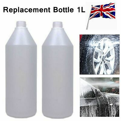 2x Professional Spare 1 Litre Snow Foam Lance Bottle For Car Washing Replacement