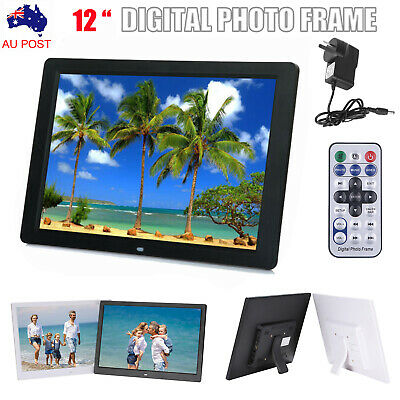 New 12 Inch Digital Photo Frame HD LED Picture Alarm Clock MP4 Movie MP3 Player