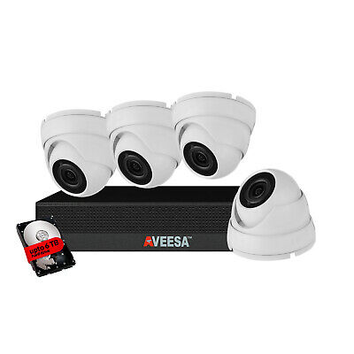 AVEESA CCTV Camera System DVR Recorder Outdoor Night Vision Home Security KIT