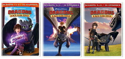 Dragons Race To The Edge Seasons 1 2 3 4 5 & 6 (2019) Brand New Sealed R1 Dvd