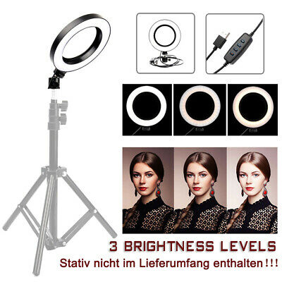 8W Fotostudio Dimmbar 72LED Ringleuchte Ringlicht  Selfie Live YouTube Makeup