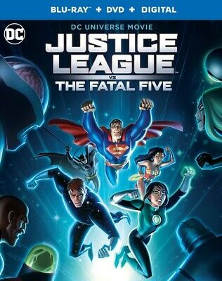 Justice League Vs The Fatal Five (2019) Brand New Sealed Region A Bluray & Dvd