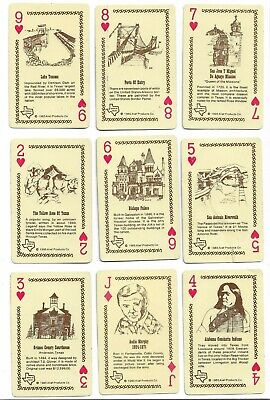 Texas-The Lone Star State(U.s.a.) X 14 Only Single Vintage Playing/swapcards