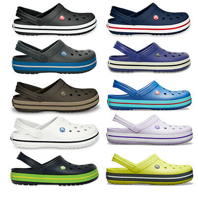 151eb275e92 Unisex Adults Crocs Crocband Clog Beach Shower Durable Rubber Sea Shoe All  Sizes