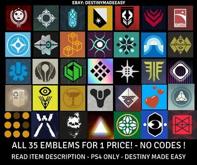 Destiny 2 Emblem Hellspawn Confluence Of Light Day Of Seven + More! PS4 ONLY