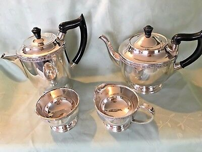 Exquisite Silver-plated Viners Tea Set 4pc-Made in Sheffield