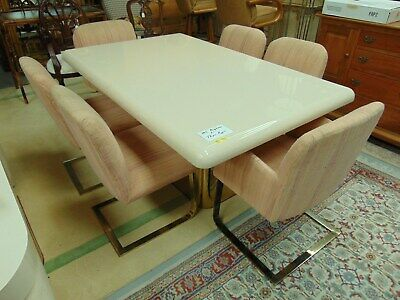 32486d9a80284 Milo Baughman for Thayer Coggin Dining Table with 6 Chairs Mid Century  Modern