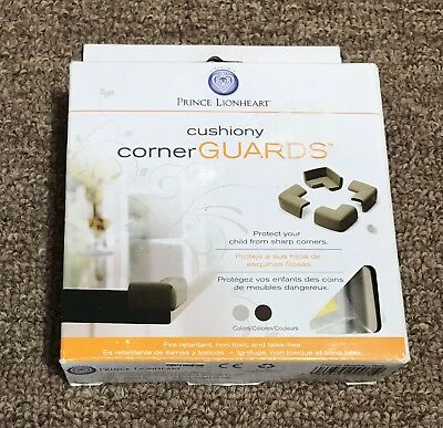 Prince Lionheart Cushiony Corner Guards 4 pc. Foam Protectors Baby Proof Safety