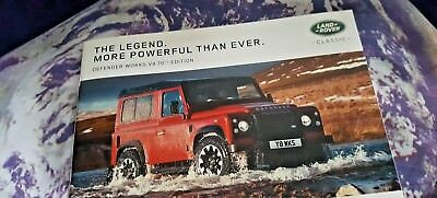 Land Rover Defender 70th Anniversary  V8 Works Edition - 2018 - 31pgs