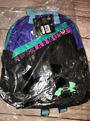Under Armour Girls Favorite Backpack 3.0, Black (001)/Green Typhoon, One Size