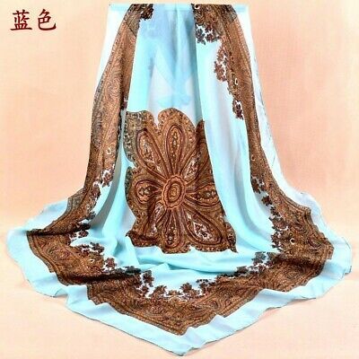 """US Seller- shawl discount scarf bohemian paisley 37.4"""" large square scarf"""