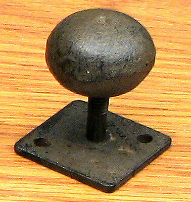 Set of 6 Antique Replica Round Knob on Flat Base  Drawer  Cast Iron Brown