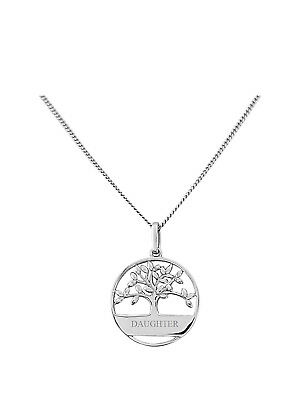 Sue Keepsafe Sterling Silver Tree Of Life Design Engraved Pendant Jewelry & Watches Precious Metal Without Stones