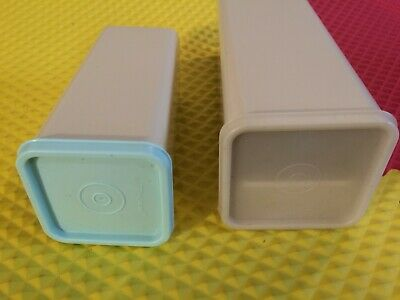 Vintage Set of 2 Tupperware Cheese Keepers 2 Lb & 1 Lb Sizes Mint Free Shipping