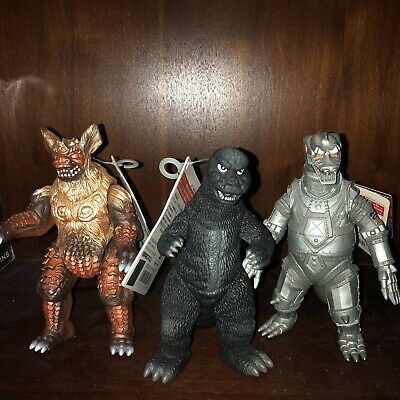 Bandai Godzilla, King Caesar And Mechagodzilla Figures Lot