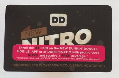 $25 DUNKIN DONUTS Gift Card, New, Pin Unscratched, Makes A
