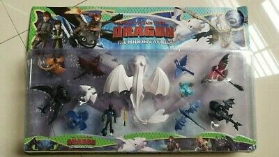 toy for kid 3-5 year 12pcs how to train your dragon action figure light fury set