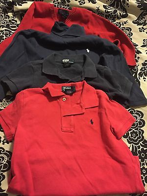 Lot Of 4 Boys size 2/2T Ralph Lauren Polo Sweater, Turtleneck, 2 Polo Shirts