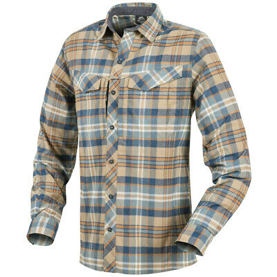 Helikon MBDU Flannel Shirt Mens Travel Tactical Long Sleeve Work Ginger Plaid
