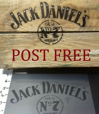 Stencil Jack Daniels Theme  Brand New High Grade Mylar Easy To Use Works  Great