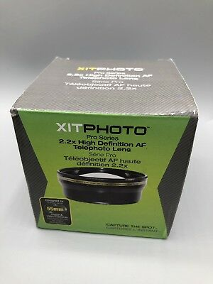 New Xit 55mm 2.2x Pro Series Telephoto Lens (Black)