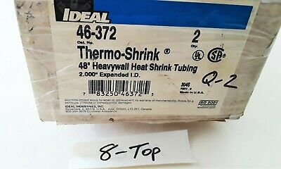 Lot of 2- Ideal 46-372 Heavy Wall Heat Shrink Tubing