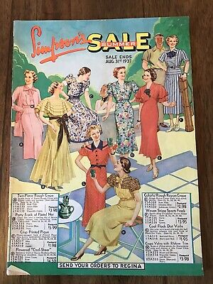 Lot Of 5 - 1937 To 1939 Simpson's Catalogues