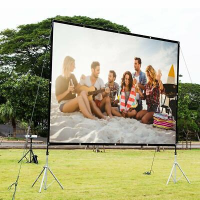 """100"""" 16:9 Projector Projection Screen Home Cinema Theater Foldable Wall-Mounted"""